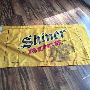VTG Shiner BocK beer man cave flag sign brewery